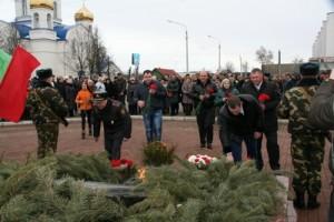 Руководство УКП «Жилкомхоз» 23 февраля приняло участие в торжественном митинге