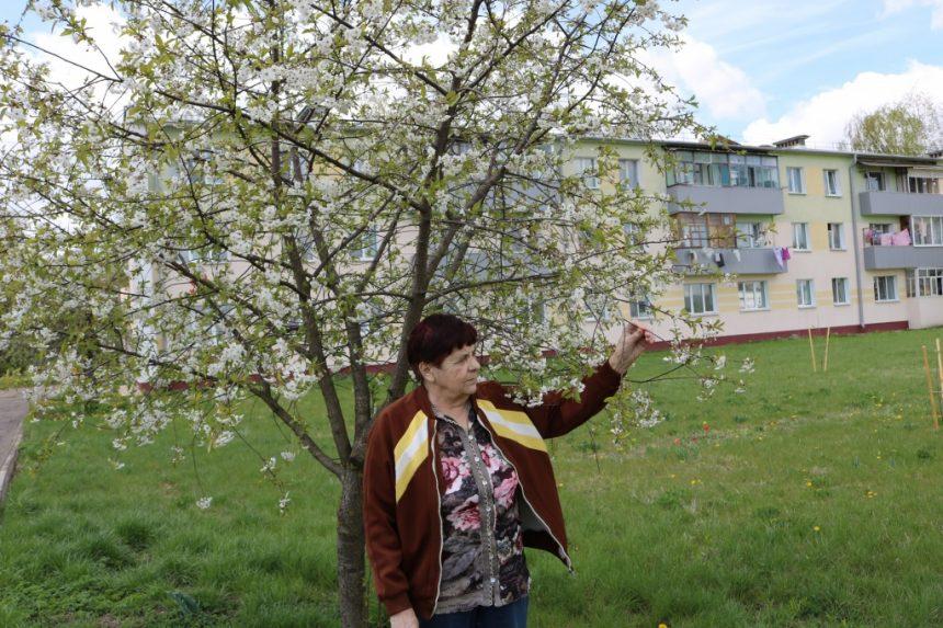 Горожанка сажает цветы возле подъезда и считает, что не нужно ждать, пока кто-то это сделает
