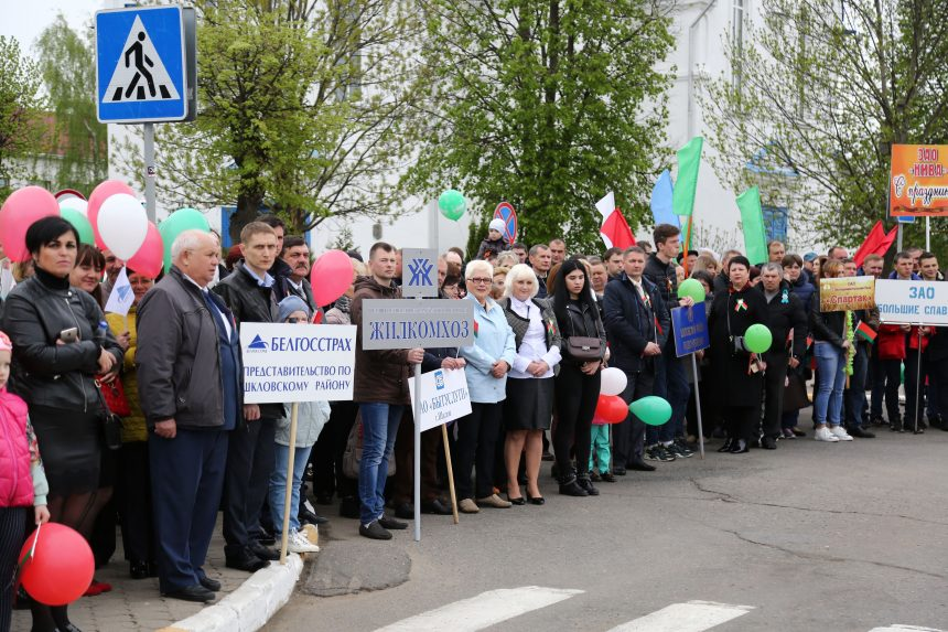 Шкловское УКП «Жиломхоз» приняло участие в праздновании Дня Победы