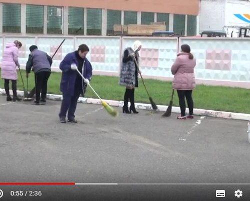 Для наведения порядка и благоустройства территорий на Шкловщине организованы санитарные дни