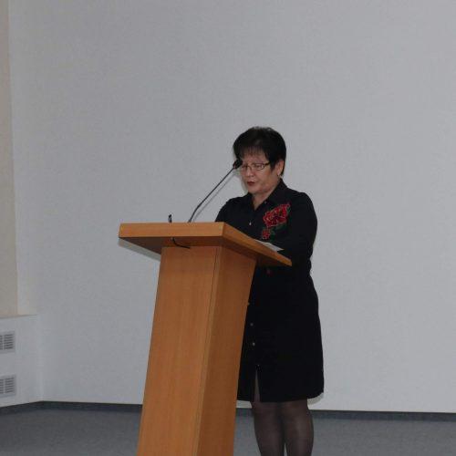 Председатель профсоюзной организации Шкловского УКП «Жилкомхоз» выступила на заседании Совета районного объединения профсоюзов