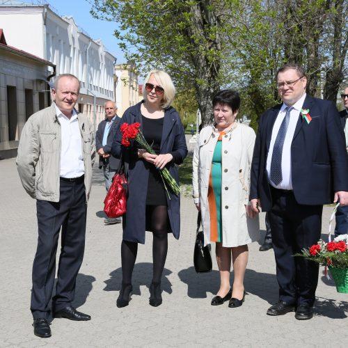 Шкловское УКП «Жилкомхоз» приняло участие в митинге, посвященном Дню Победы